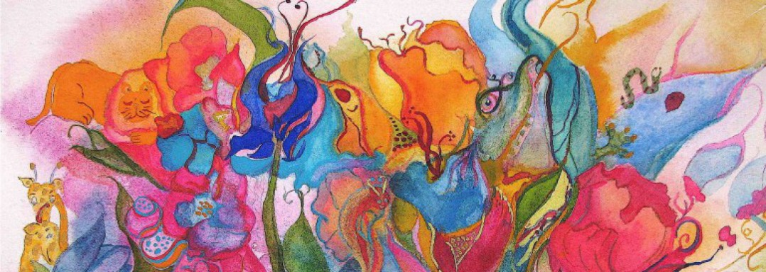 Watercolor Wednesday - Flower Forest