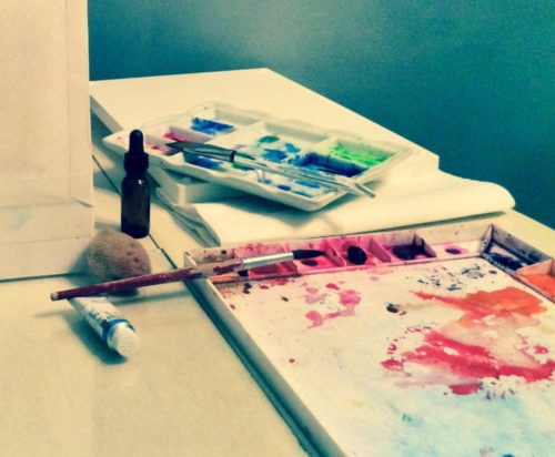 watercolor painting- Photography by ©CountryWomanPaints, L'Adelaide