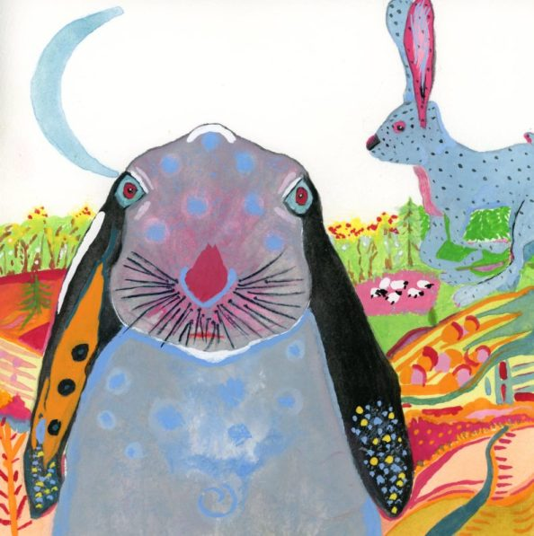 Jack Rabbit Painting of Many Colors