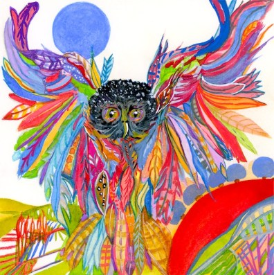 Owl of Many Colored Feathers