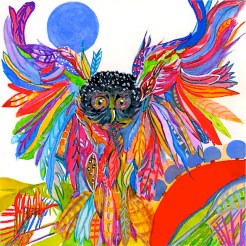 Owl in Rainbows, Blue Moon