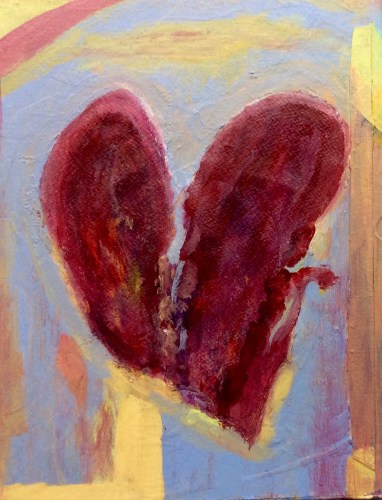 """""""Heart Mending"""" Acrylic Painting by L'Adelaide Scott-Country-Woman-Studio"""