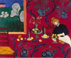 Matisse-The-Dessert-Harmony-in-Red-Henri-1908