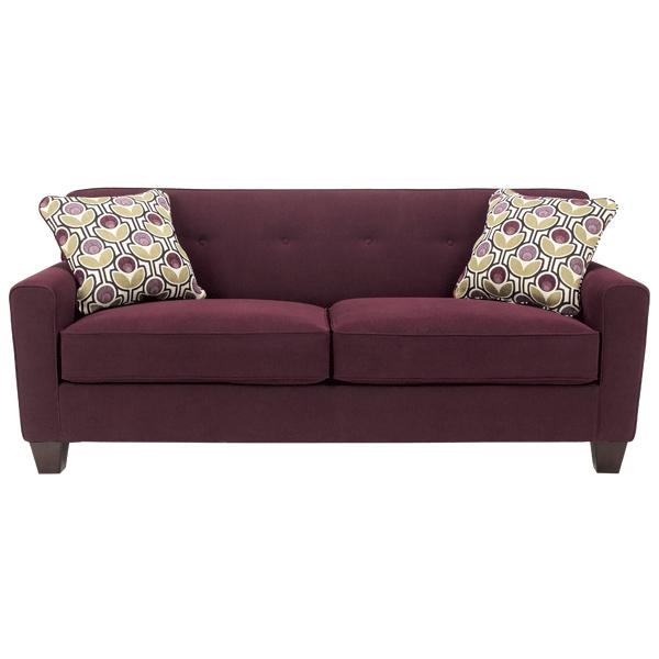 eggplant sofa simple ashley danielle 1880038 product details