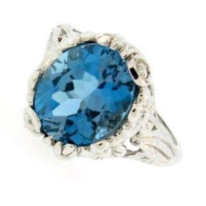 London Blue Basket Ring
