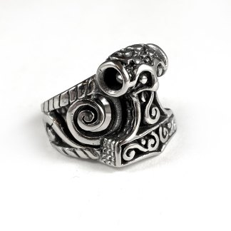 Celtic Thor's Hammer Stainless Steel Ring