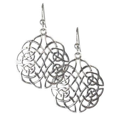 Celtic Lattice Knot Sterling Earrings