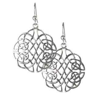 Celtic Lattice Knot Sterling Earrings