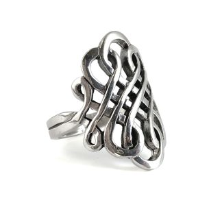 Celtic Scroll Sterling Ring