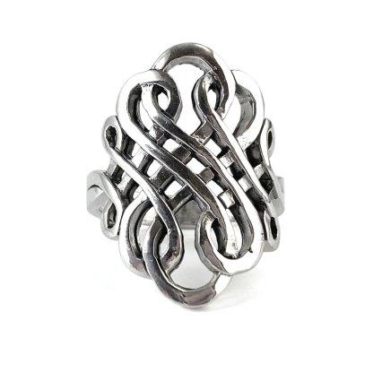 Celtic Scroll Sterling Ring