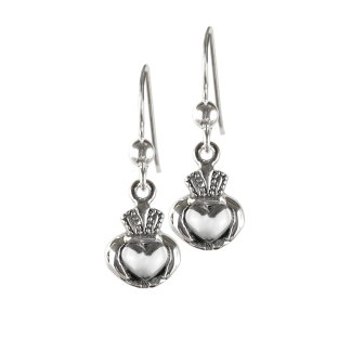 Celtic Claddagh Sterling Earrings