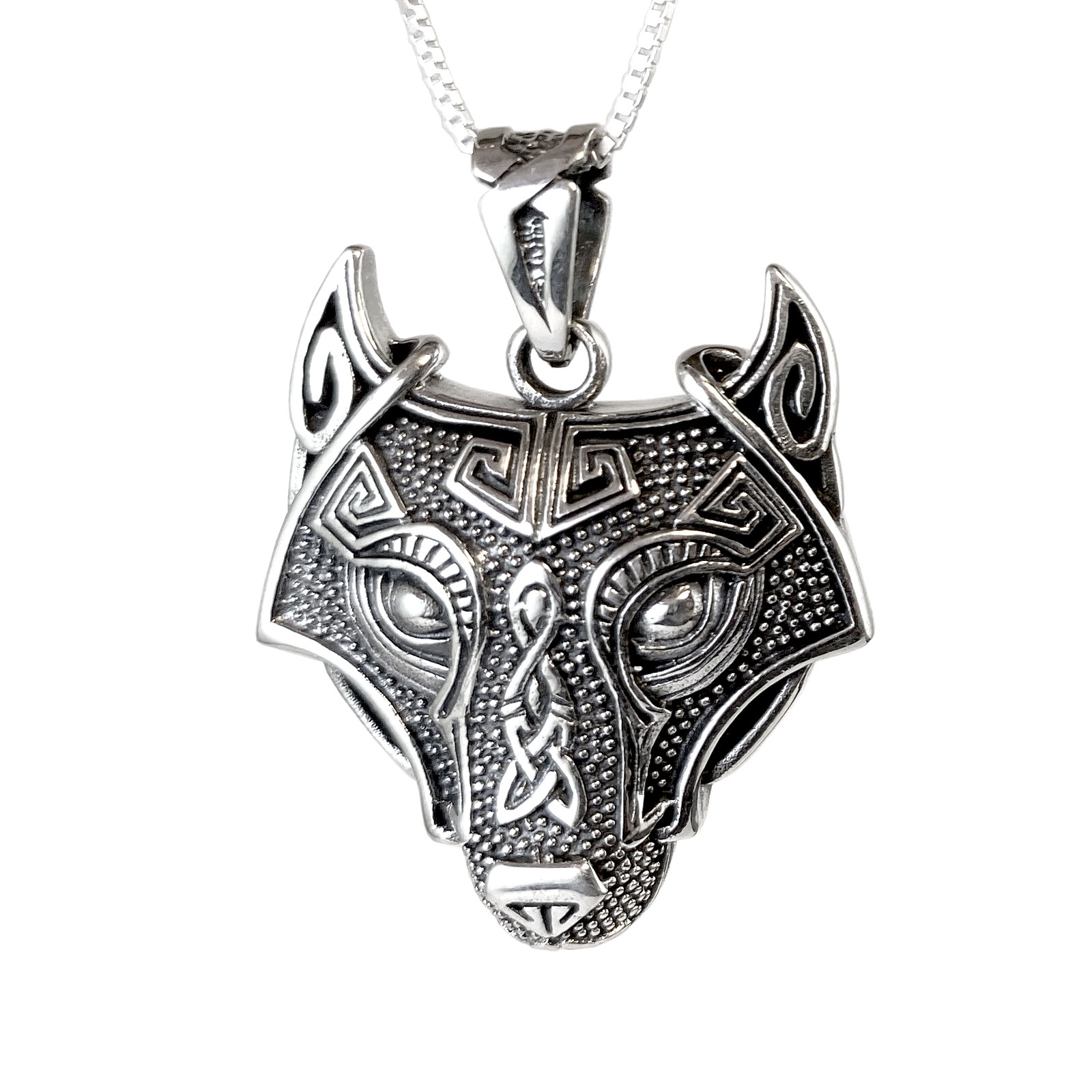 Viking Wolf Sterling Necklace