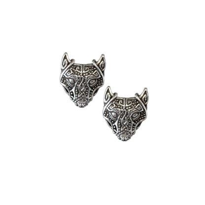 Viking Wolf Sterling Earrings