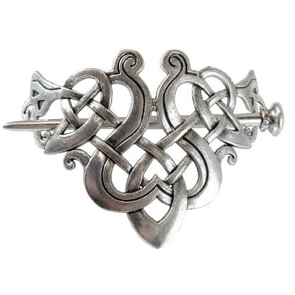 Celtic Bow Triangle Hair Clip