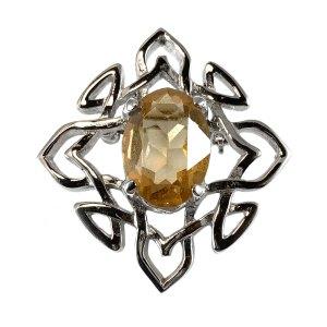 Diamond Celtic Knot Kilt Pin