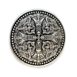 Pewter Celtic Buckler Brooch