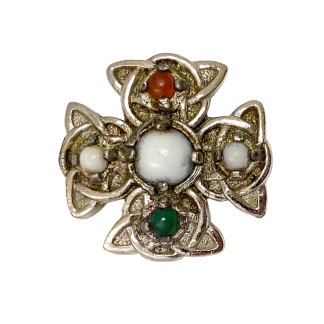 Irish Cross Miracle Pebble Kilt Pin