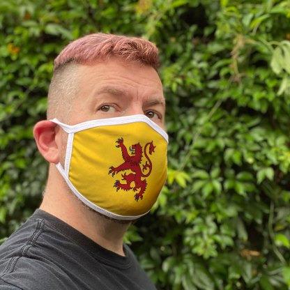 Rampant Lion Face Mask