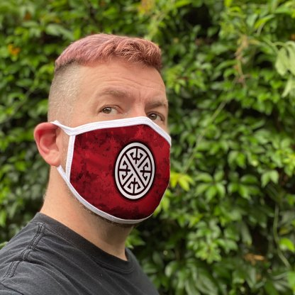 Red Celtic Knot Face Mask
