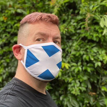 Scottish Flag Face Mask