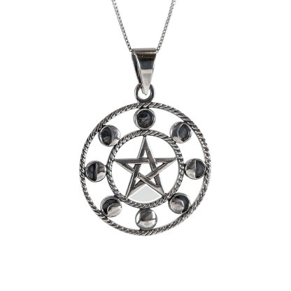 WIccan Moon Pendant