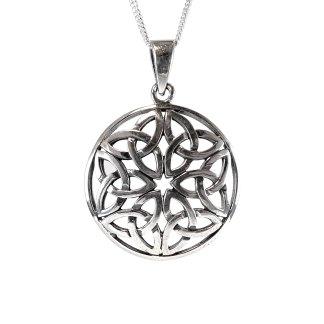 Celtic Trinity Knot Circle Pendant