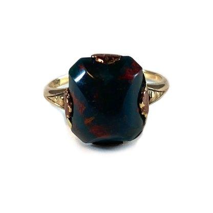 Gold & Bloodstone Signet Ring