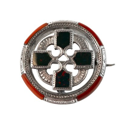 Ringed Iona Cross Kilt Pin