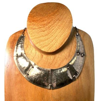 Modernist Sterling Silver Torque Necklace