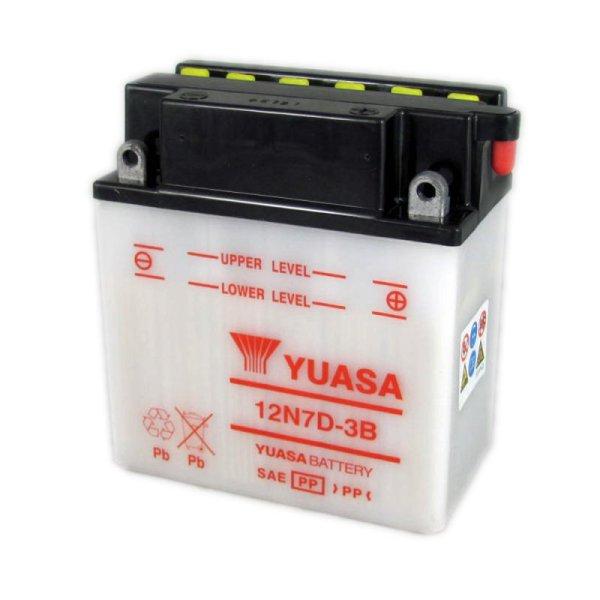 Yuasa Motorcycle Battery 12n7d-3b 12v 7ah County