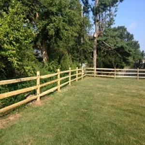 Black Locust Split Rail Fence