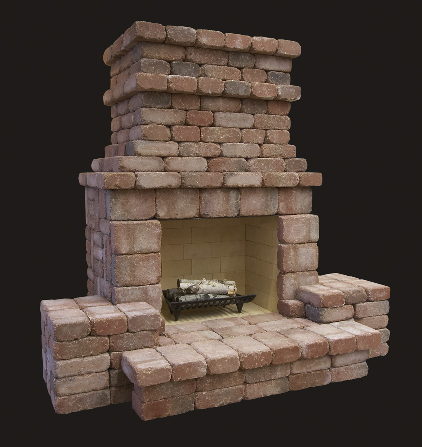 Summit Stone Outdoor Fireplace Kits  Standard