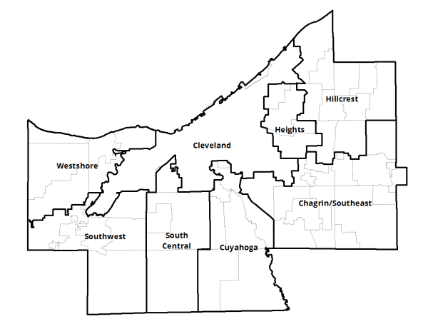 Map of CCPC Planning Regions