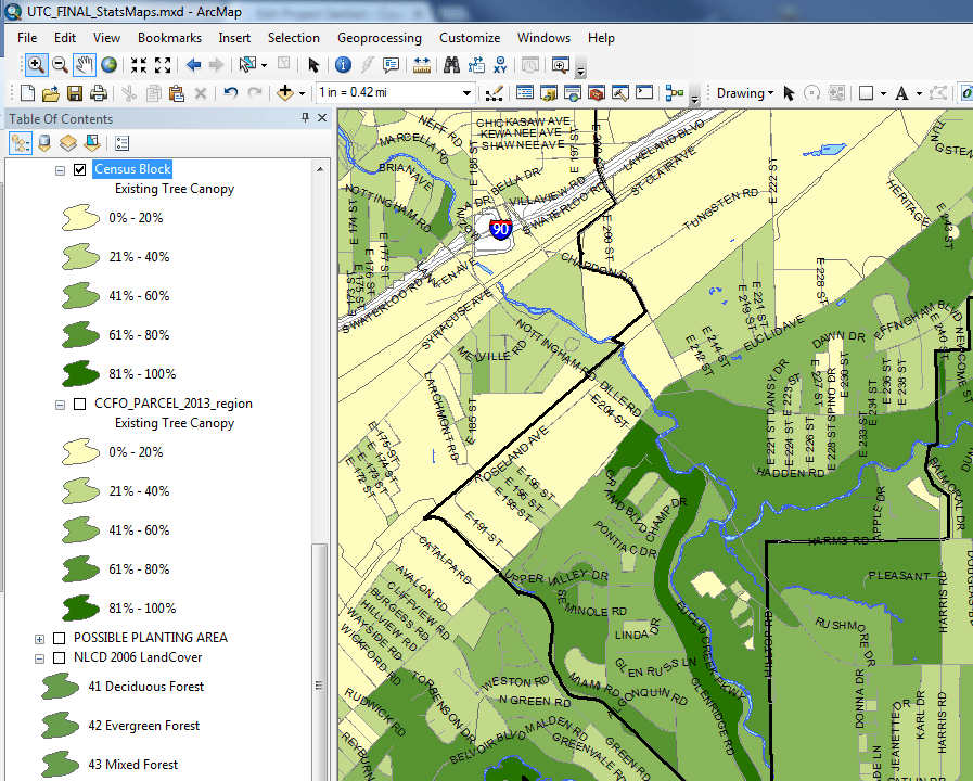 Tree canopy metrics are available as ESRI SHP files for selected geographic levels S&le Downloadable GIS data Image  sc 1 st  Cuyahoga County Planning Commission : urban tree canopy - memphite.com