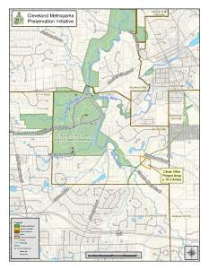 Map of Metroparks-Clean Ohio 2016