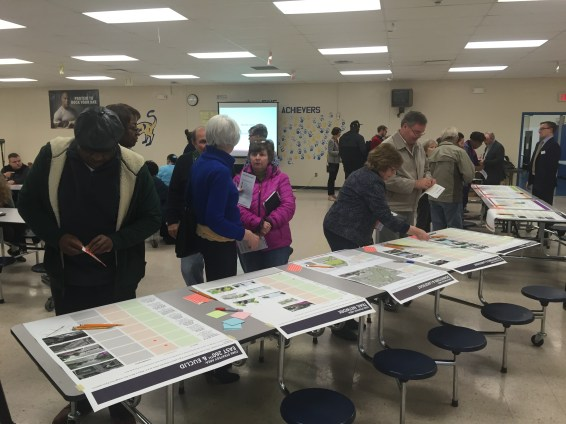 Euclid residents participating in a public meeting