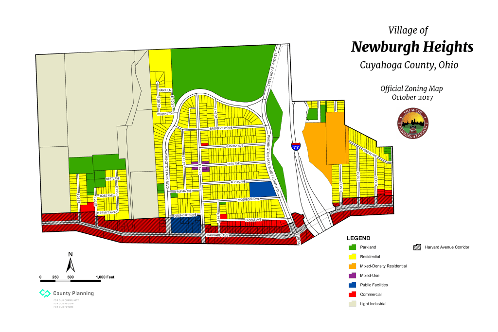 Newburgh Heights zoning map