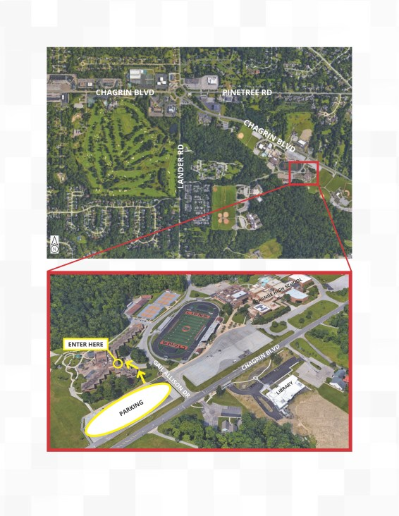 Map to location of Woodmere Master Plan public meeting