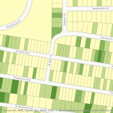 sample map: existing tree canopy