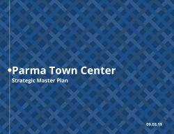 Cover of the Parma Town Center Strategic Master Plan