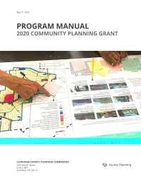 Cover of 2020 Planning Grant Program Manual
