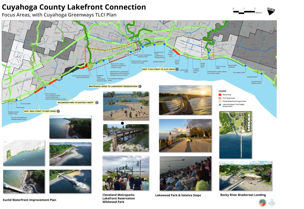Cuyahoga County lakefront focus areas