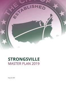cover of the Strongsville Master Plan