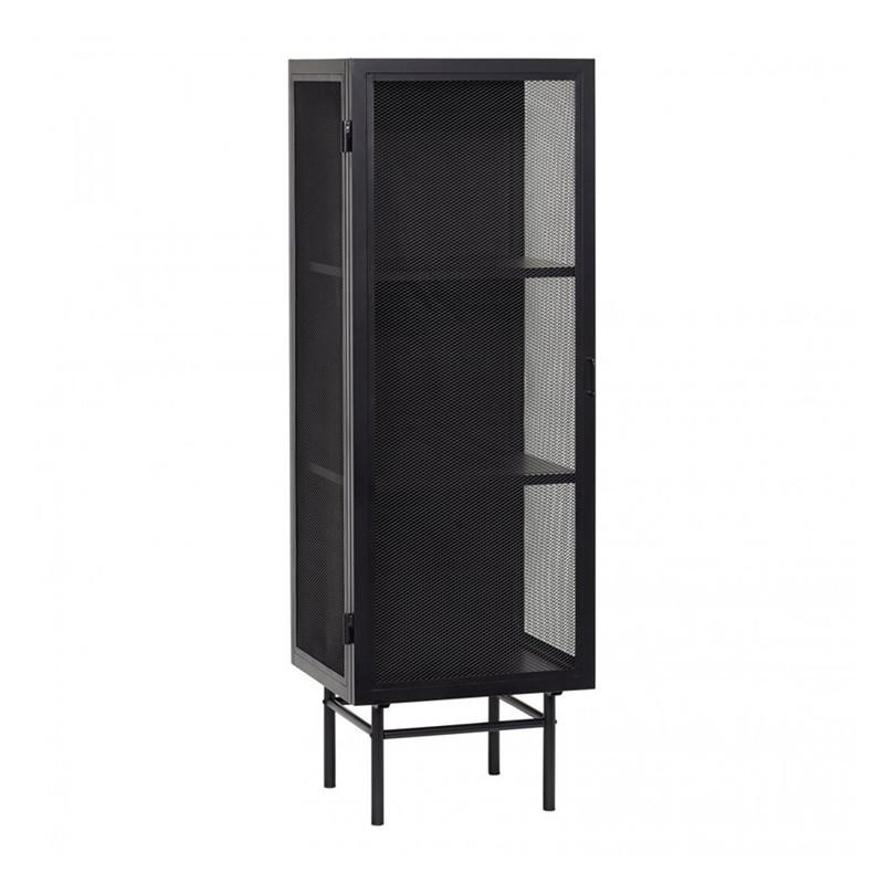 petit meuble metal noir 1 porte hubsch chani reference cd vt33a