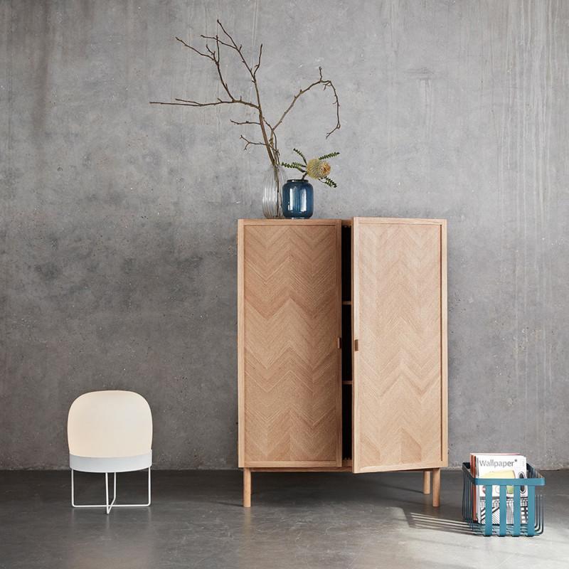 meuble d entree scandinave bois 2 portes sur cdc design