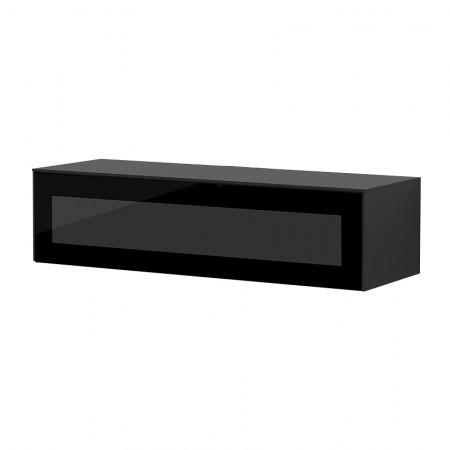 meuble tv suspendu noir porte infrarouge loft reference cd tv76b 02