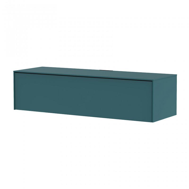 meuble tv suspendu bleu canard sur cdc design