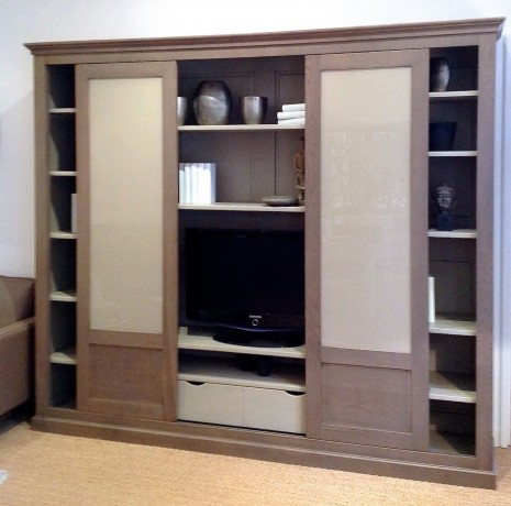 bibliotheque meuble tv manhattan 2 portes
