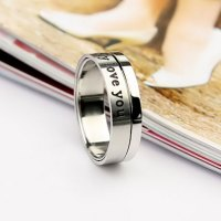 Engraved Spinning rings for Boyfriend, Cheap Promise Rings