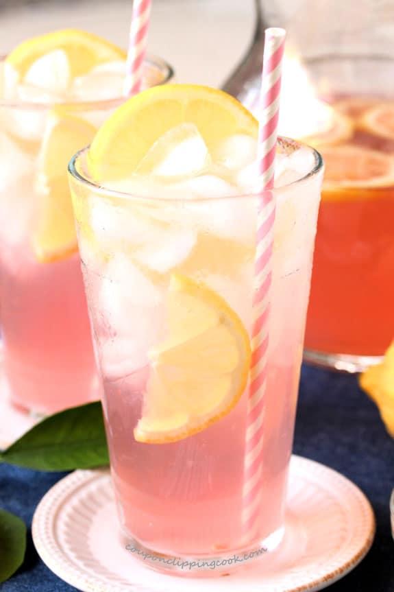 3. Pomegranate Pink Lemonade Punch